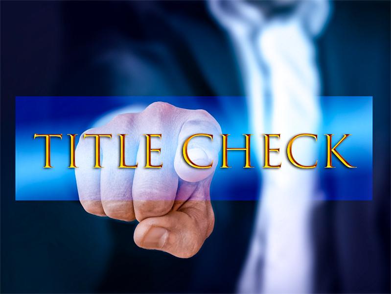 Title Check Service