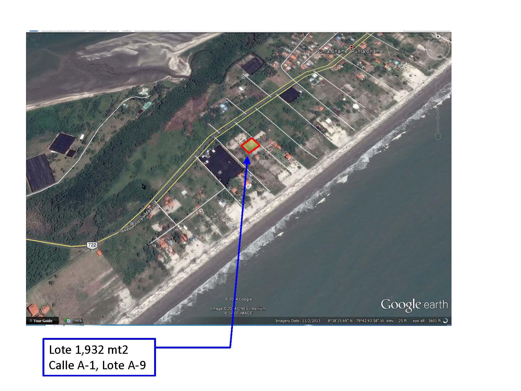 Lote Punta Chame - Ubicacion con Foto Aereo