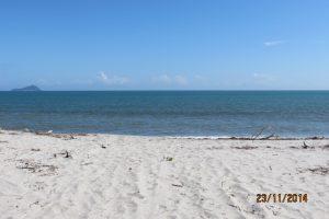 Playa al final del acceso a la playa